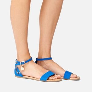 New Blue Sandals With You Locket Shoedazzle